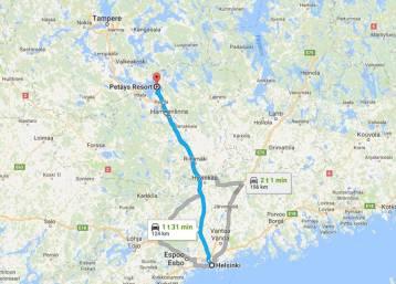 Kartta_PetäysResort_Helsinki_Hämeenlinna